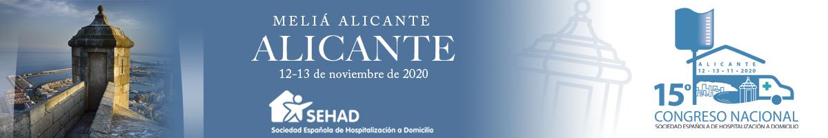15 CONGRESO SEHAD 2020. Alicante 16 y 17 de abril de 2020